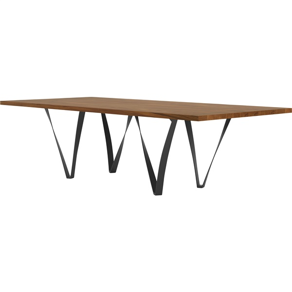 Genoa Dining Table (Canaletto Walnut/Deep Ocean)