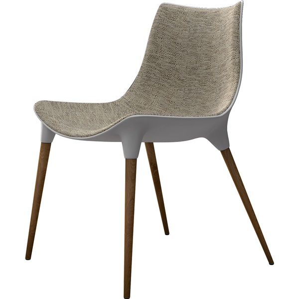 Langham Dining Chair (Oatmeal on Dark Teak)