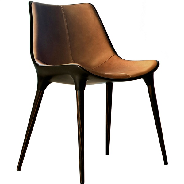 Langham Dining Chair (Caramel on Cathedral Ebony)