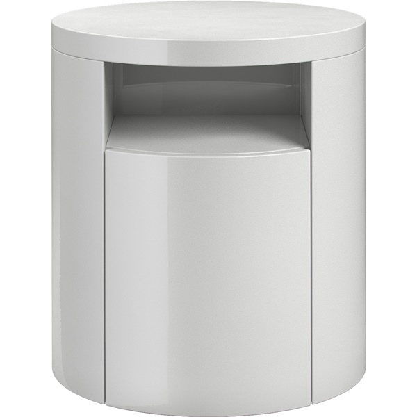 Mulberry Nightstand (White Lacquer)