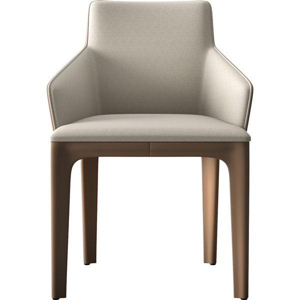 Oxford Dining Chair (Gray Denim/Bright White)