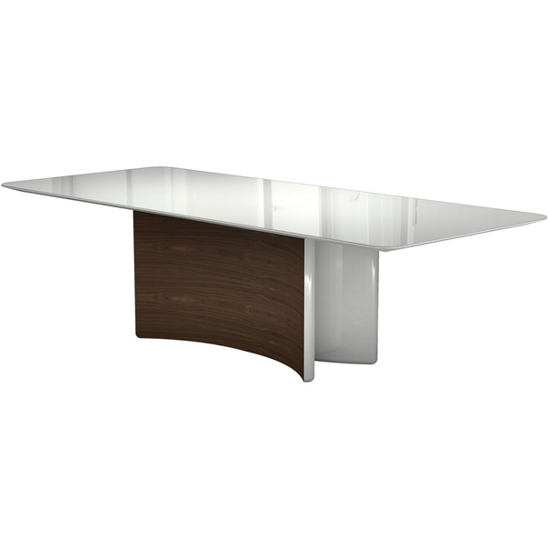 Richmond Dining Table (Beige Glass/Natural Oak)