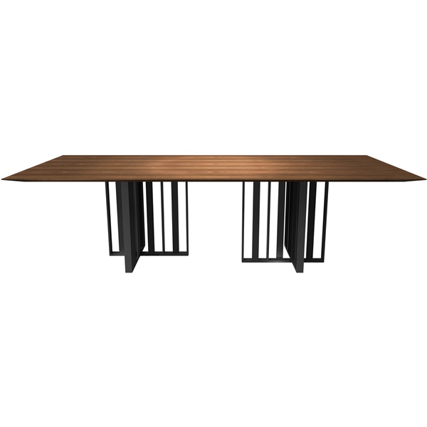 Spitalfields Dining Table (Walnut/Graphite -Small)