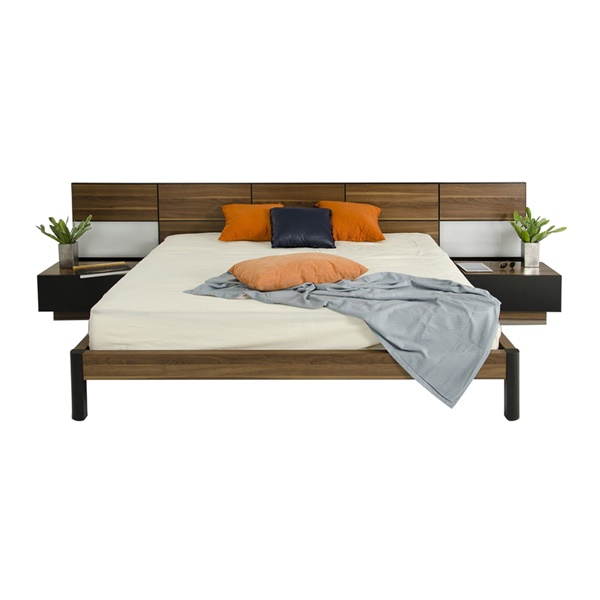 Modrest Rondo - Modern Bed with Nightstands