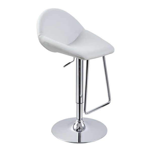 Modrest T1138 - Contemporary Eco-Leather Bar Stool (White)