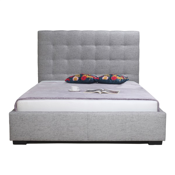 Belle Storage Bed (Queen / Charcoal Fabric)