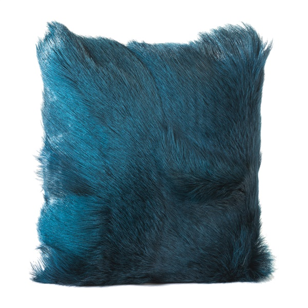 Goat Fur Pillow (Teal)