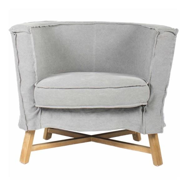 Grand Club Chair - Light Gray