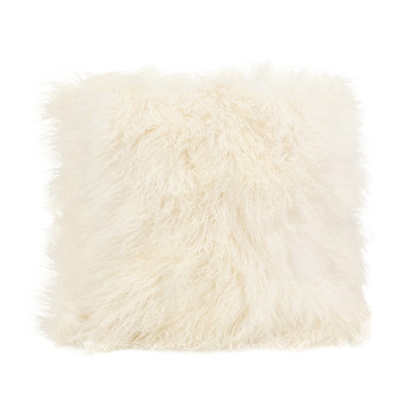 Lamb Large Fur Pillow (Cream)