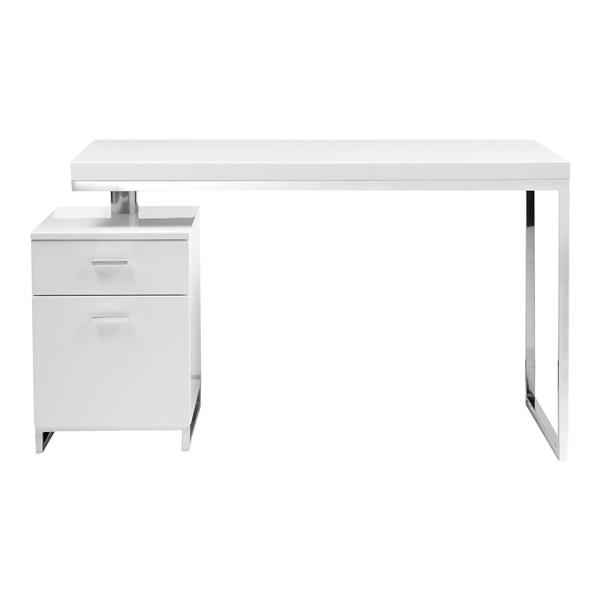 Martos Desk (Walnut / Brushed Stainless Steel)