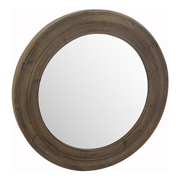 Porthole Mirror, Brown