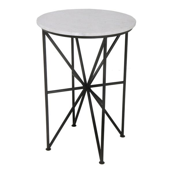 Quadrant Accent Table, Black