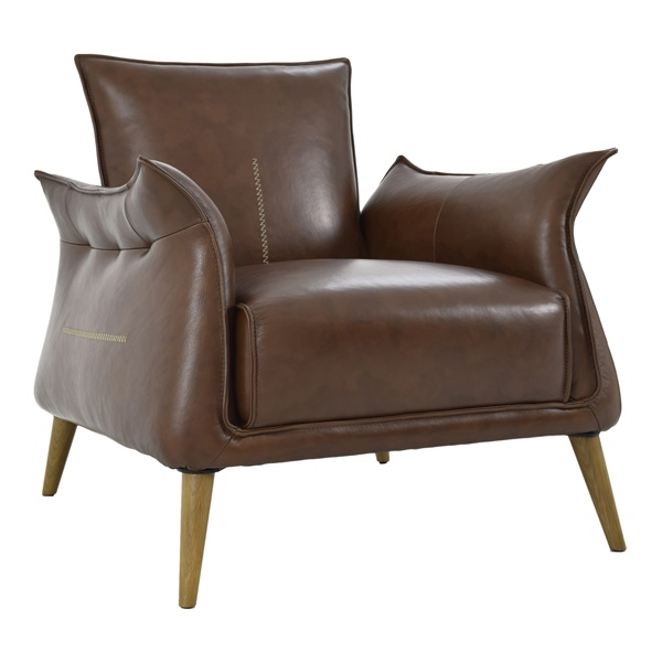 Verona Club Chair, Light Brown