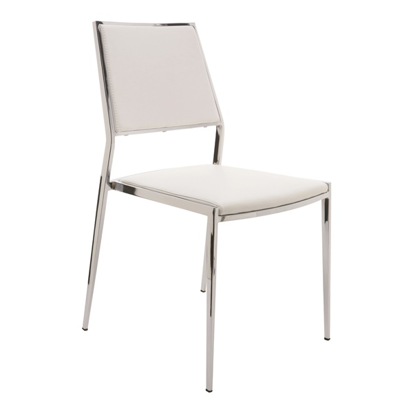 Aaron Stackable Dining Chair (White)
