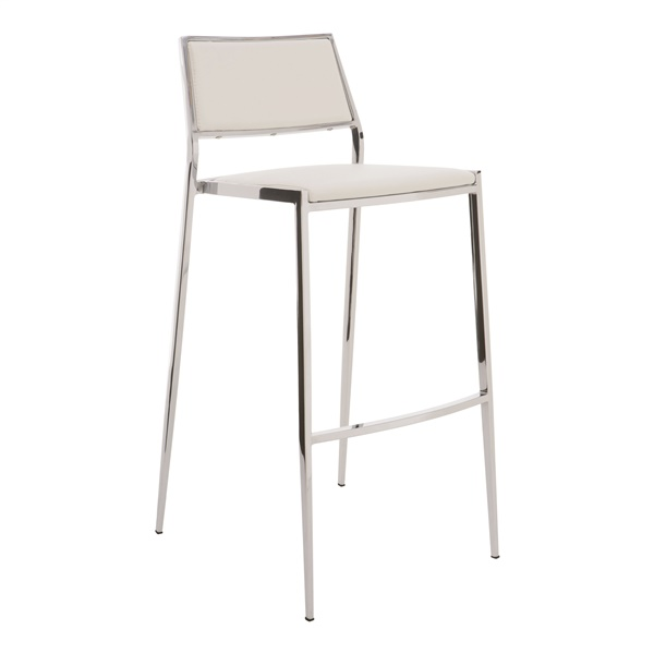 Aaron Stackable Bar Stool (White)