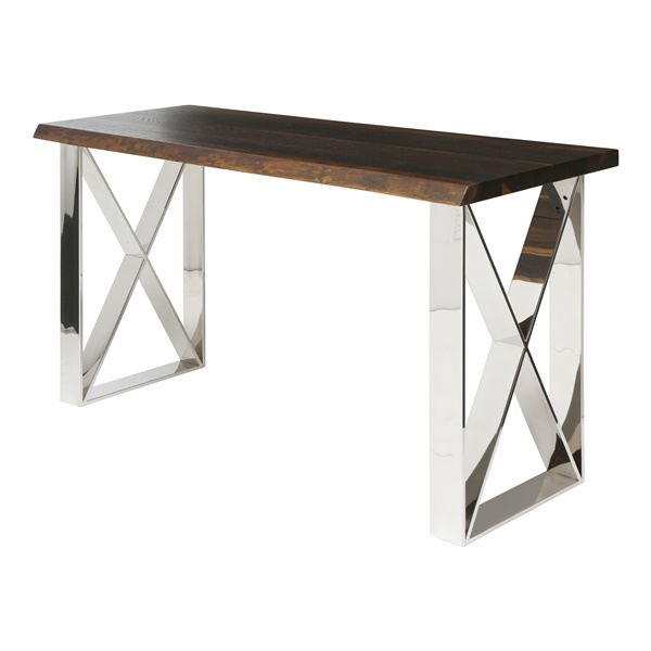 Aix Console Table - Seared and Silver