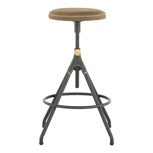 Akron Adjustable Stool (Umber Tan)