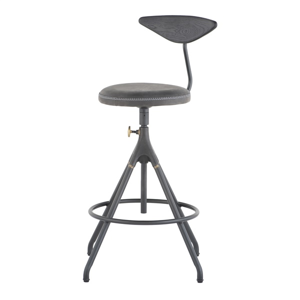 Akron Counter Stool (Storm Black)