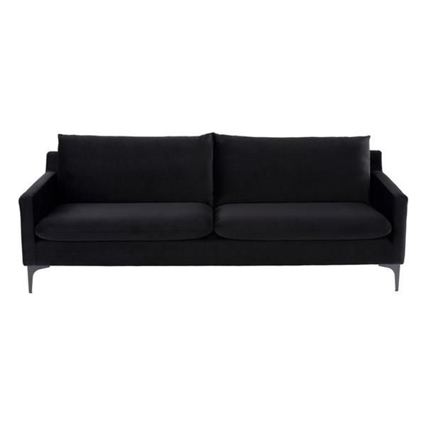 Anders Triple Seat Sofa (Black / Black)
