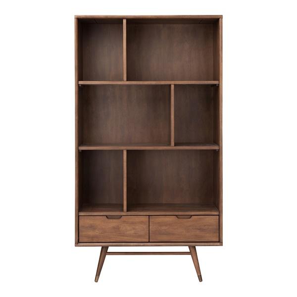 Baas 2 Drawer Bookcase Shelving Walnut - Walnut