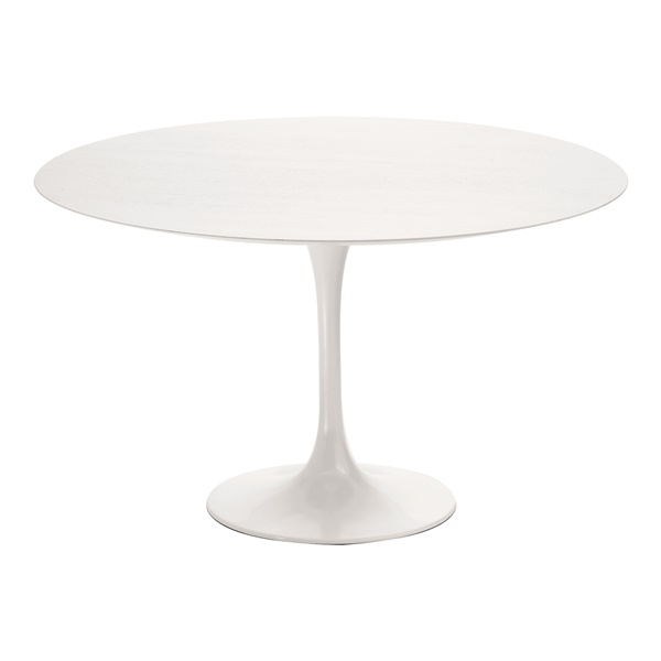 Cal Dining Table (White Marble/ Polished White / Small)