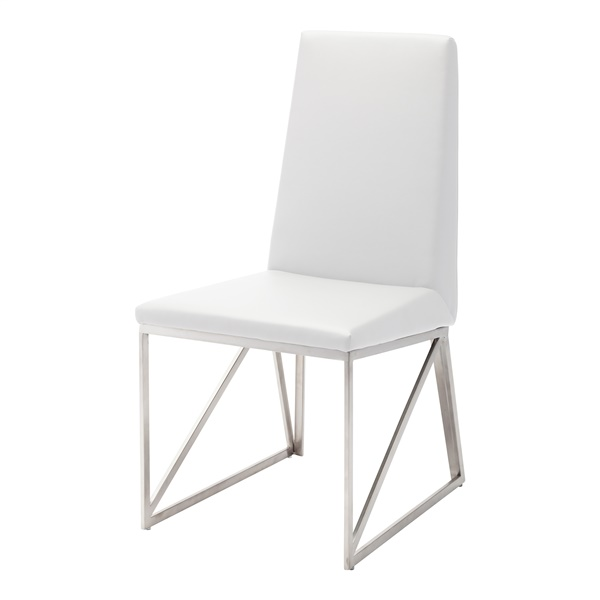 Caprice Dining Chair (Black Naugahyde / Silver)