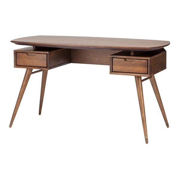 Carel Desk Table - Walnut