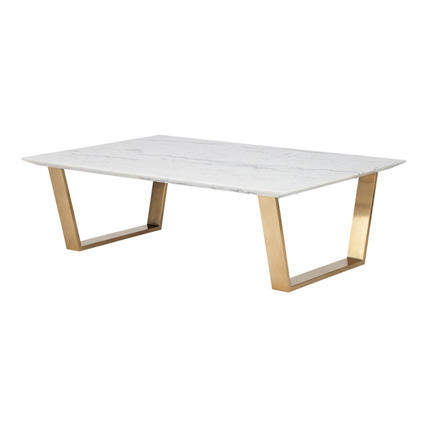 Catrine Coffee Table - White and Gold