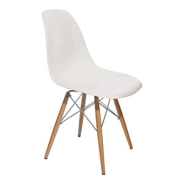 Charlie Dining Chair (White / Chrome)