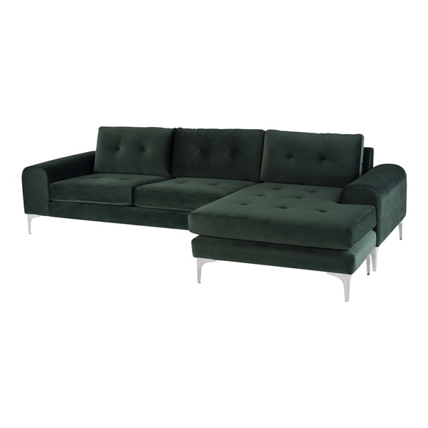 Colyn Sectional Sofa (Sand / Brushed Silver / Left Facing)