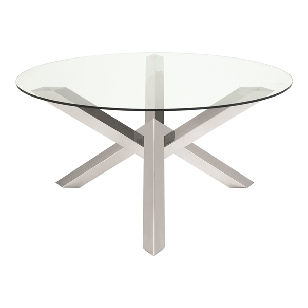 Costa Dining Table (Small / Silver)