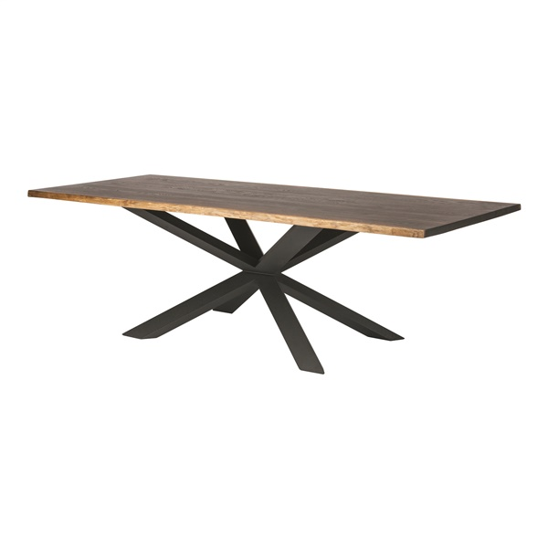 Couture Dining Table (Seared Oak / Black Steel)