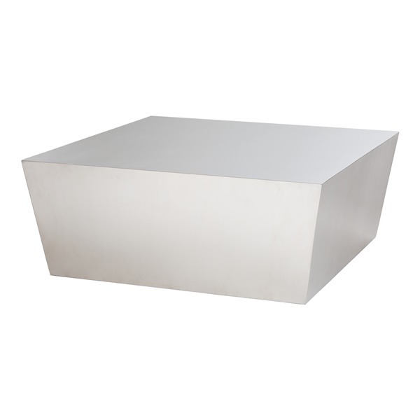 Cube Coffee Table - Brushed Silver