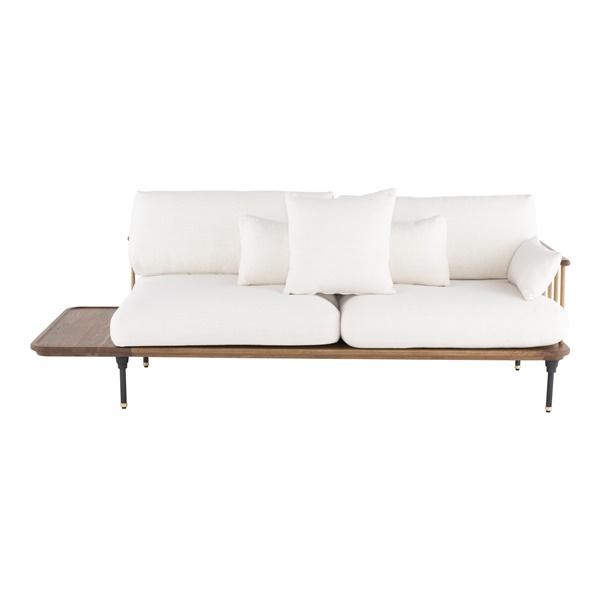 Distrikt Triple Seat Sofa (Hard Fumed Oak)