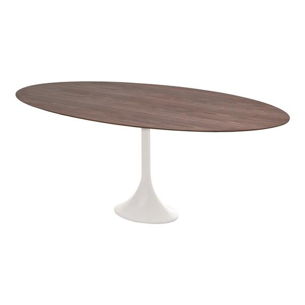 Echo Dining Table (Large / Walnut Veneer / White)