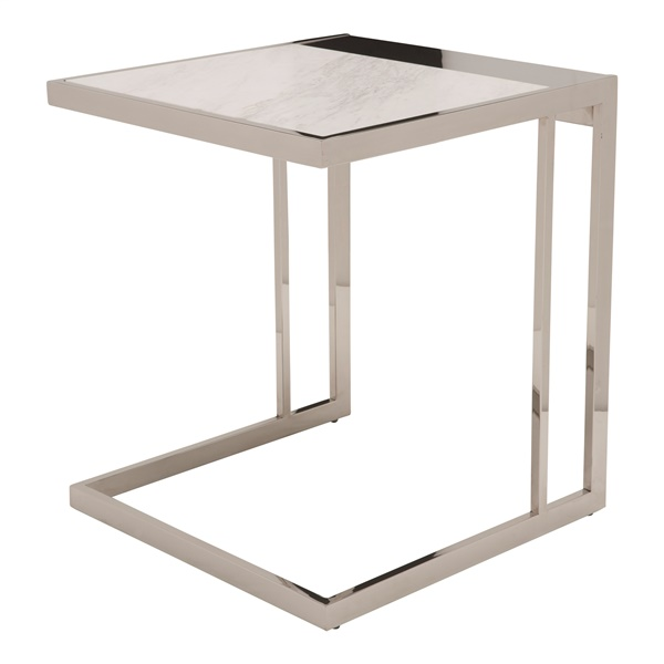 Ethan Side Table (Black / Silver)