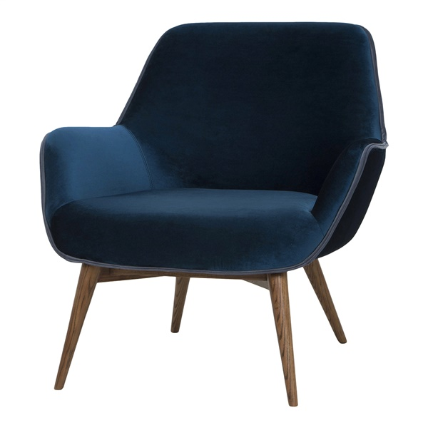 Gretchen Single Seat Sofa (Midnight Blue)