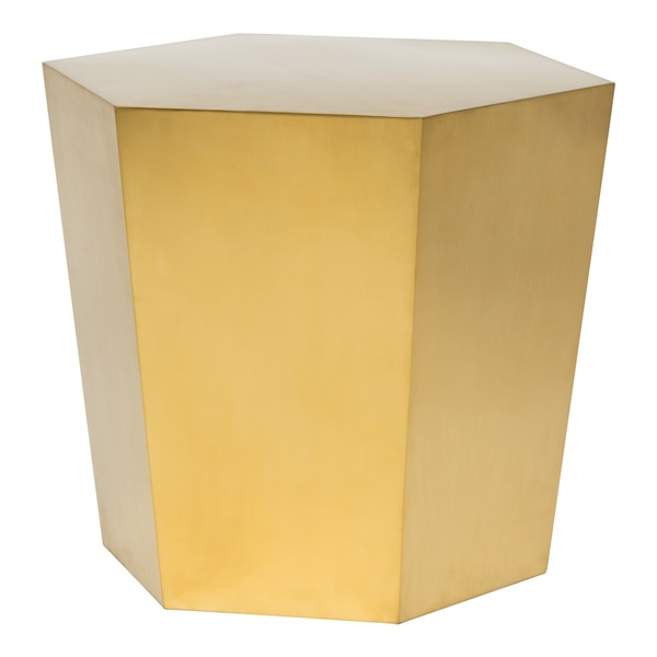 Hexa Tapered Side Table (Polished Silver)