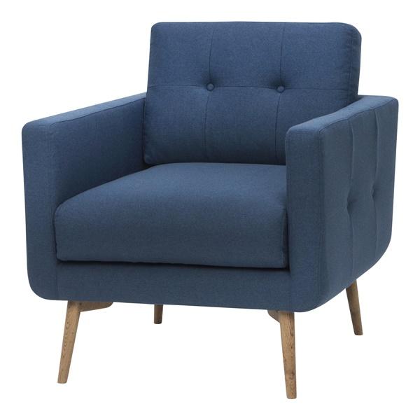 Ingrid Single Seat Sofa (Caribbean Blue)
