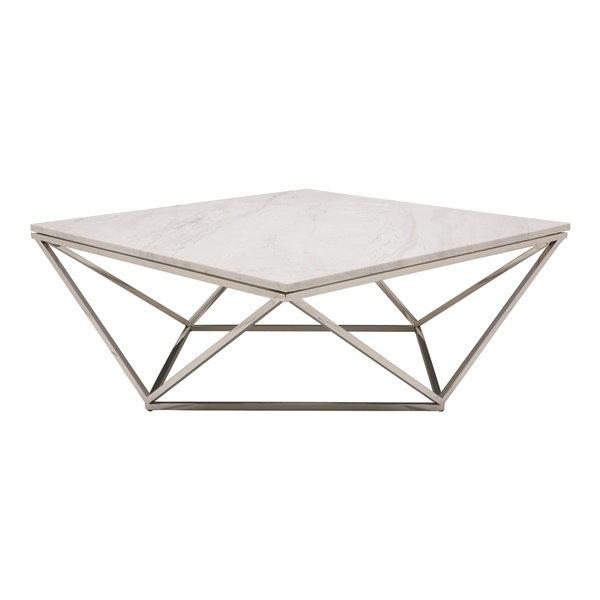 Jasmine Coffee Table (White / Silver)