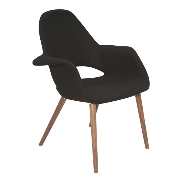 Jesse Lounge Chair (Black Wool)
