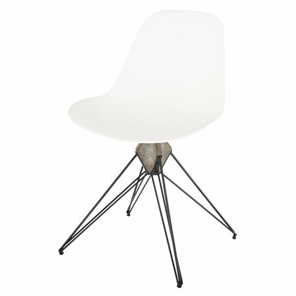 Kahn Dining Chair (White/Grey)