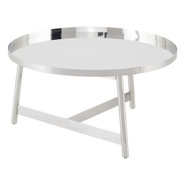 Landon Coffee Table (Polished Silver)