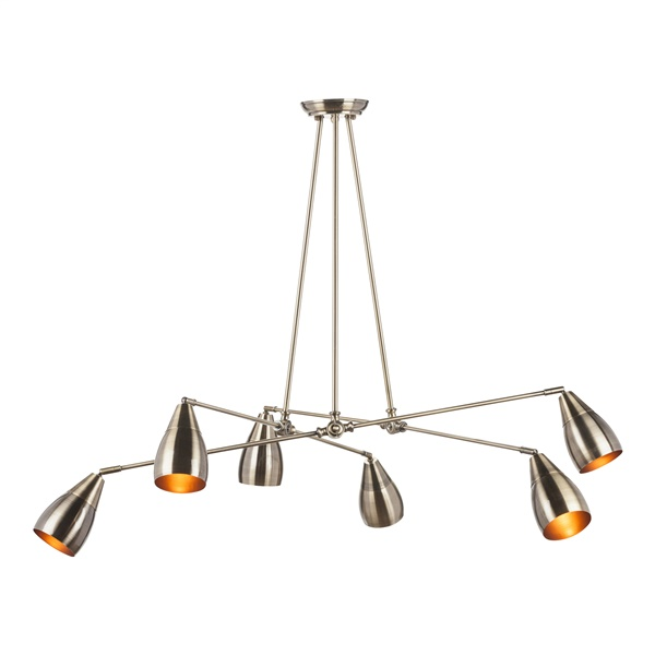 Lanister Pendant Lamp with 6 Lights - Antique Brass