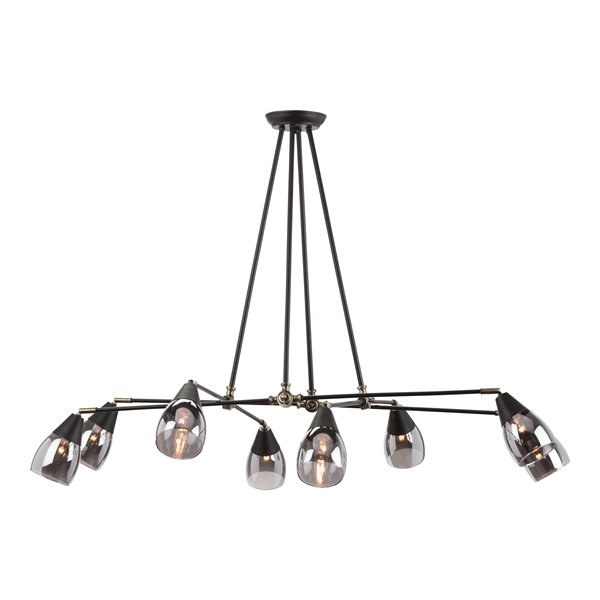 Lanister Pendant Lamp with 8 Lights - Glass Shade