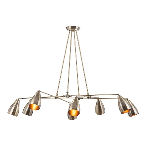 Lanister Pendant Lamp with 8 Lights - Antique Brass