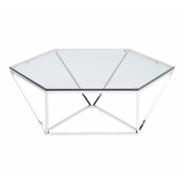 Louisa Coffee Table (Polished Stainless)