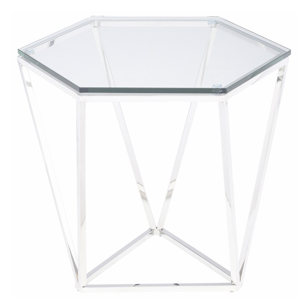 Louisa Side Table (Polished Stainless)