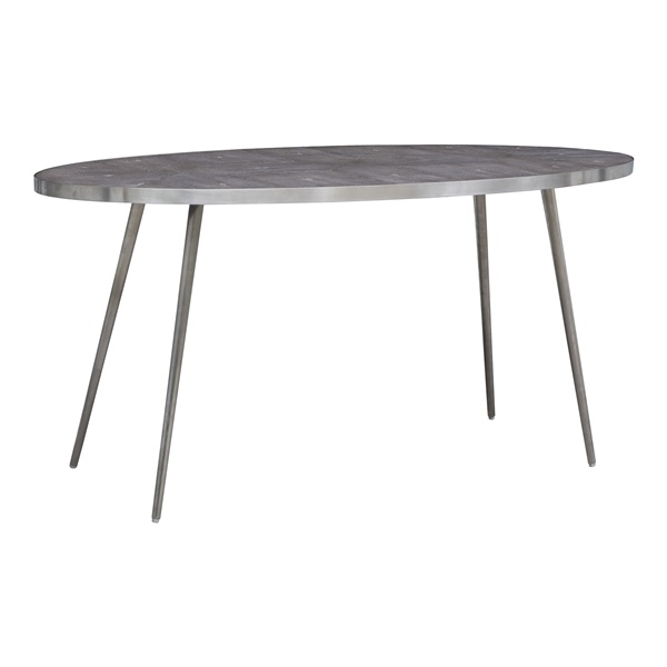 Magnus Coffee Table (Gray / Brushed Stainless)
