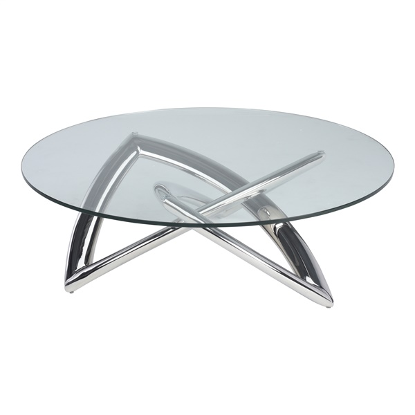 Martina Coffee Table (Polished Stainless)